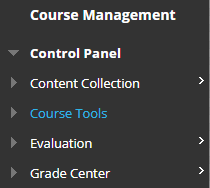 Course Tools in Control Panel